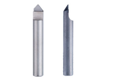 China Fast Chip Removal Pcd Diamond End Mills Pyramid Shape 70° 90° 120° Degree factory